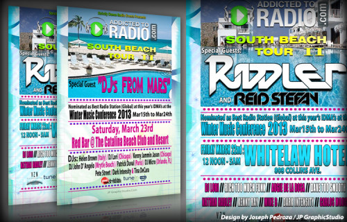 AddictedToRadio.Com South Beach Tour II | JP GraphicStudio